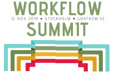 GrafKom Nordic Workflow Summit, Stockholm Sweden, 12 november 2019 - Logo