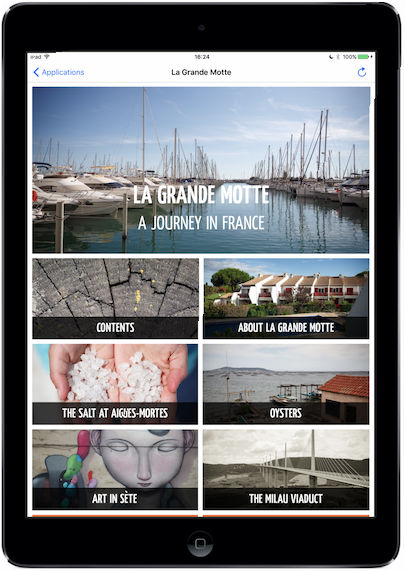 Twixl media - Twixl Distribution Platform - Browse Pages - Tablet App, La Grand Motte - Picture
